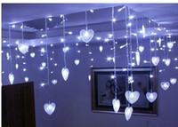 ingrosso ha condotto le luci della stringa che decorano-Multicolor LED String Strip Festival Festività natalizia Decorazioni per matrimoni Lampade per tende 4m 100 SMD 18 Hearts EU / US / UK / AU