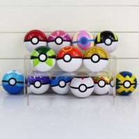 Wholesale pokemon balls - Poke Ball Anime Toys Cartoon Pocket Monsters ABS Action Figures pikachu Ball Cosplay Pop up colors EMS