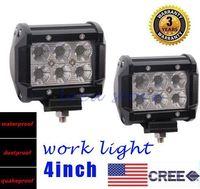 "Wholesale Atv Warmer - 2pcs 4"" Inch 18W LED Work Light CREE LED LIGHT BAR SPOT FLOOD 12v 24v FOR OFF ROAD LED BAR IP67 ATV UTV SUV car light led flood light"