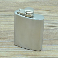 Wholesale Pocket Funnel - 3.5oz Stainless Steel Hip Flask Portable Mini Whiskey Wine Bottle Pocket Russian Flagon Travel Outdoor Funnel free shipping