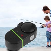nueva alarma de mordedura de pescado al por mayor-Luz LED electrónica Fish Bite Sound Alarm Bell Clip en la caña de pescar Nuevo
