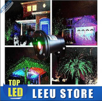 Wholesale Water Proof Garden Lighting - x2PCS Outdoor IP44 water proof Laser light,red green firefliles effect laser projector christmas lights Laser Show House Projector via DHL