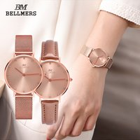 Wholesale Studded Leather Watches - 2017 selling new high-quality stainless steel mesh belt quartz female table simple fashion couple diamond-studded waterproof watch