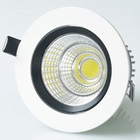 Wholesale High Quality Led Dimmable Drivers - Wholesale price High quality Dimmable 15W Warm Cold White COB LED Down light + Led Driver LED Ceiling light AC85~265V AC110V AC220V