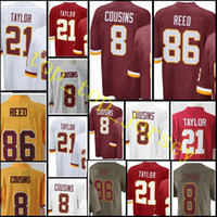 Wholesale Reeds Jerseys - Men's #8 Kirk Cousins jersey stitched 86 Reed 21 Sean Taylor jerseys Color Rush Limited Jersey Cheap sales Free Shipping