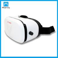 dhl sanal gerçeklik gözlükleri toptan satış-VR Max Karton Plastik Sanal Gerçeklik VR Gözlük 3D 3-6 inç Akıllı Telefonlar için Kask Telefon Gözlük DHL ÜCRETSIZ