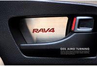 Wholesale Rav4 Interior - 2014 Toyota RAV4 RAV 4 Stainless Steel Interior Door Handle Bowl Cover 2013 2014 2015 Toyota Rav4 Inside Door Trim Accessories