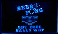 bira topu toptan satış-LS112-b Bira Pong Topları Olsun Islak Neon Işık Burcu