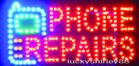 Wholesale Repair Sign - Wholesale business phone repairs led sign billboard customerized animated size 19*10 inch phone repairs shop sign of led