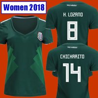 Wholesale Xl Girls - Thailand Camisetas Mexico WOMEN soccer jersey 2018 CHICHARITO LOZANO MARQUEZ DOS SANTOS GUARDADO girls football shirt camisa de futbol