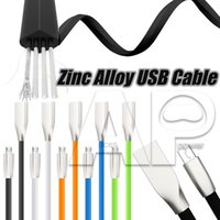 Wholesale Shaped Usb - Micro V8 USB Cables 1M 3ft Diamond Shaped Rhombus TPE Tangle Zinc Alloy Plug USB Chargers Sync Data Cable For Android Phone