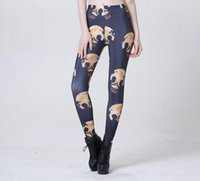 Wholesale Sexy Leggings Skull - Drop Shipping Casual Women Fashion Sexy Slim Hip Leggings Girl's Hot Punk Pants HELMET SKULL Print Digital Printed Leggins