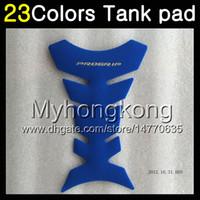 Wholesale Kawasaki Zx Gas Cap - 23Colors 3D Carbon Fiber Gas Tank Pad Protector For KAWASAKI NINJA ZX2R ZXR250 1990 1991 1992 ZX 2R ZXR 250 ZX-2R 90 92 3D Tank Cap Sticker