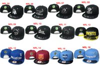 Wholesale Nrl Snapback Wholesale - Wholesale NRL Snapback Caps Adjustable Basketball Snap Back Warriors Hats Black Hip Hop Snapbacks High Quality Players Sports