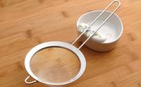 Wholesale Tea Strainer Sieve - 2.6 Stainless Steel Sieve Mesh Tea Strainer High Quality Pasta Colanders Kitchen Gadgets for Tea & Noodle