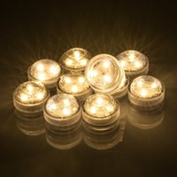 Wholesale garden pond decorations for sale - Group buy Submersible Waterproof Round Decoration Candle Lights With SMD High Brightness LED Coin Batteries For Pond Pool Bath Garden