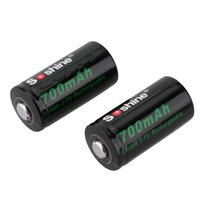 Wholesale Lithium 123 Batteries - Soshine 2pcs lot RCR-123 Rechargeable Li-ion Lithium Battery 3.7V 700mAh Protected 16340 Batteries for flashlight With Box