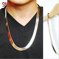 knochen-stil kette großhandel-Mode-Art-Goldschlangenknochen / -kiel / fishbone hip hop 18k Gold und silbriges überzogene Kettenhalskettenschmucksachen für Bar-Club-Mann / Frau