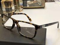 Wholesale lens plastic frame online - OPR SV Luxury Fashion Men Brand Designer Popular PD SV Glasses Optical Lens Square Full Frame Black Tortoise Top Quality With Case