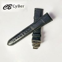 Wholesale 22mm Genuine Crocodile Watch Strap - AAA quality watchbands men Crocodile Watch bands 22mm 20mm Alligator Genuine Leather watch strap with push button hidden clasp