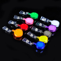 Wholesale Retractable Key Card Clip - Retractable Lanyard ID Card Badge Holder Reels with Clip Keep ID Key Cell phone Safe 500pcs lot