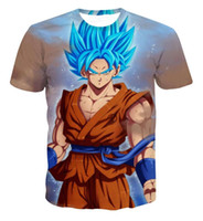 Wholesale funny tshirts women - Newest Style Dragon Ball Z Goku 3D t shirt Funny Anime Super Saiyan t shirts Women Men Harajuku tee shirts Casual tshirts tops