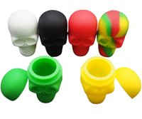 Wholesale Screw Skull - Stock in USA! 5pcs lot Skull NonStick Silicone Container Wax Dab Silicone Jar Screw Top