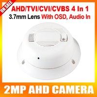 Wholesale Mini Smoke Detector Camera Dvr - AHD CVI TVI CVBS 4 In 1 Mini AHD Camera with OSD Menu,Coaxial Smoke Detector Hidden CCTV Camera,1080P,3.7mm Lens,Compatible With all DVR