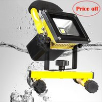 Wholesale Flood Sale - Wholesale-2016 Ccc Sale Real Spotlight Flood Lights Rechargeable Led Floodlight Lithium-ion Battery 5w Lamp Portable Light Ip65 (90-260v