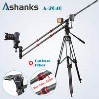 Wholesale Carbon Fiber Camera Bag - Wholesale-Ashanks Carbon Fiber jib crane Portable Pro DSLR Video Camera Crane Jib Arm Standard Version+Bag free shipping