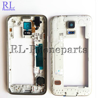 Wholesale Camera Oem - 10pcs lot OEM LCD Middle Plate Housing Frame Bezel Camera Cover all small parts For Samsung Galaxy S5 G900F G900H G900A G900V G900T silver