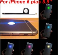 Para el iPhone 6 más Brillante logotipo LED DIY ligero luminescente MOD de la insignia Kit de panel para iPhone6 ​​6G 5.5 Volver Vivienda