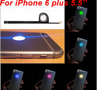 Per iPhone 6 Plus Kit pannello Mod Glowing Logo LED fai da te luminescente luce di marchio per iPhone6 ​​6G 5.5 alloggiamento posteriore