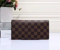 Wholesale Small Plain Gift Boxes - Hot sale! brand men short Wallet, classic fashion male patchwork purse with coin pocket &card holder with gift box