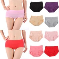Wholesale Antibacterial Underwear Women - Wholesale-Women Bamboo Fiber Antibacterial Solid Briefs Underwear Panties Lingerie L-3XL TQ