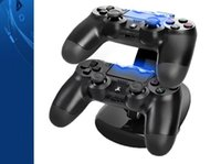 Wholesale Dock Station Dual - Dual Chargers for Controllers Charging Dock Stand Station For Sony PlayStation 4 PS4 PS 4 X-box