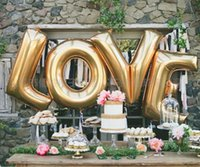 Wholesale Large Letter Foil Balloons - Mylar Balloon Balloon Large Wedding Decorations Balloon Party Foil Balloon Large Letter A - Z Full Alphabet Air Balloon Accessories DHL