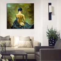 ingrosso dipinti figure signore-Retro Style Sexy Lady Pittura ad olio HD Stampa figure Dipinti su tela Modern Fashion Home decorazione della parete di arte regalo