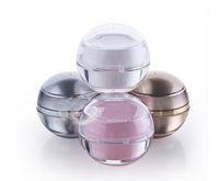 doldurulabilir makyaj kavanozu toptan satış-Doldurulabilir Plastik Boş Kozmetik Topu Konteyner 5g Makyaj Dudak Kavanoz Göz Parlak Yüz Kremi Kılıf