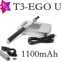 Wholesale Ego U Starter - NEW T3 Ego U T e-cig starter kits with Ego-u electronic cigarette battery T3 2.4ML atomizer USB Charger vaporizer A5