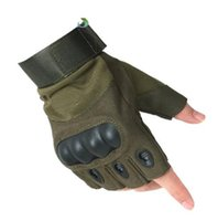 Wholesale wearable art - Thin Tactical Gloves Men Outdoor Half Finger Sports Gloves Antiskid Bicycle Gloves Wearable Fingerless Gym Glove Luva Tatical