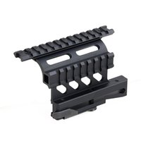 New Arrival Tactical Scope Mount AK74 Double Rail Side Mount para uso Airsoft Frete Grátis CL22-0227