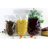 Wholesale Dry Snacks - 100pcs lot free shipping, 10*15+3CM stand up self seal plastic bags for dry food ,snack ,tea
