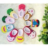 Wholesale Toddler Slipper Socks Skid - 1 Pair Baby Anti Slip Newborn Cotton Lovely Cute Shoes Animal Cartoon Slippers Toddler Boy Girl Unisex Skid Socks