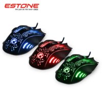 Wholesale Mouse For Computer Usb - New 2015 Estone x9 2400DPI LED Optical 6D USB Wired game Gaming Mouse gamer For PC computer Laptop perfect upgrade combine x5 x7