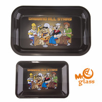 Wholesale L Smoke - Rolling Tray Dabbing All stars Trays With Two Size(S L) Metal Pallet For Smoking Accessories