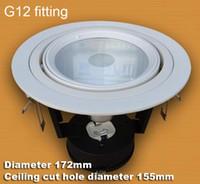 Wholesale Downlight Holders - 3 inch 3.5'' Adjustable G12 lamp holder downlight fixture glare proof G12 bulb holder light fitting