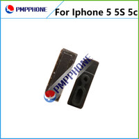 Wholesale Iphone 5c Dust - 100PCS LOT Anti Dust Ear Mesh with Rubber Frame and Adhesive For iPhone 5 5S 5C Free Shipping