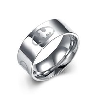 Wholesale Cheap Titanium Bands - 2016 Hot Men's titanium steel ring pattern of top-quality fashion jewelry simple and elegant style factory cheap wholesale free shipping
