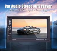 dvd oynatıcı araba uzaktan kumanda toptan satış-Yeni Varış Araba DVD Oynatıcı 7 Inç 2 Din 7020G Araba radyo MP5 Çalar 1080 P Bluetooth Navigasyon ile Bluetooth Dokunmatik Ekran + Uzaktan Kumanda